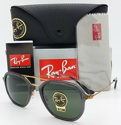 ca2be8068f NEW Rayban Sunglasses RB4273 6237 Grey-Gold Green G15 Square Aviator  AUTHENTIC