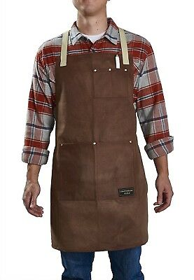Craftsmans Guild Waxed Canvas Heavy Duty Apron Cotton Straps Utility Tool BBQ Co