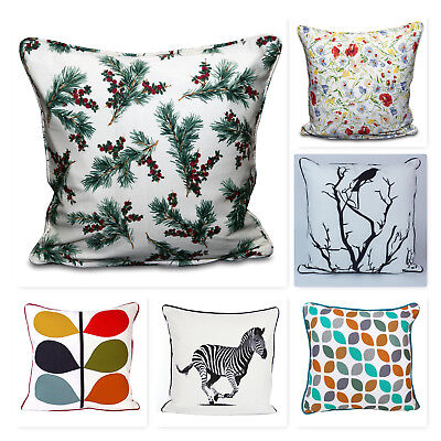 New 100% Cotton's Designer Inspired  Luxury Cushion Covers Decor Different Sizes