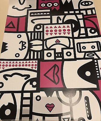 """Retro Arcade Game Wall Aft Picture Modern Alien Pink Heart 16"""" 12"""" Man Cave"""