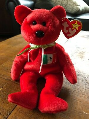 TY Beanie Babies OSITO the Mexican Bear Mexico  MWT