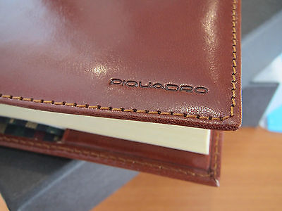 Piquadro Tamponato tan leather refillable A5 lined journal AS212TP