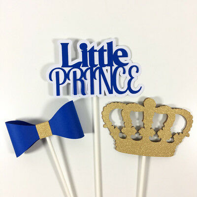 Royal Blue U0026 Gold Little Prince Baby Shower Centerpiece Sticks