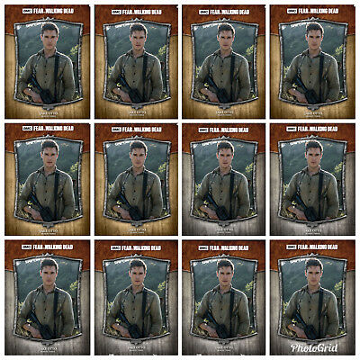 6x FEARLESS WAVE 2 GRAY+BROWN JAKE OTTO The Walking Dead Trader Digital Card