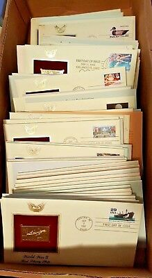 💰 Gold Replicas of US Stamps from Postal Commemorative Society 22kt LOT of 10