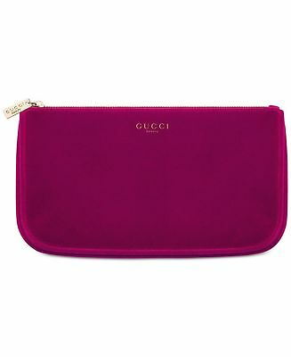 a64e811414f5 Gucci Beauty Burgundy Red Pouch Makeup Bag Velvet Cosmetic Case Clutch NEW