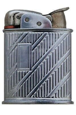New Vintage Antique Collectible Silver Evans Cigarette Lighter & Original Box