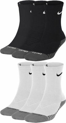 Nike Youth Athletes Dry Cushioned DRI-FIT Basketball Crew Socks 3 Pairs/Pack