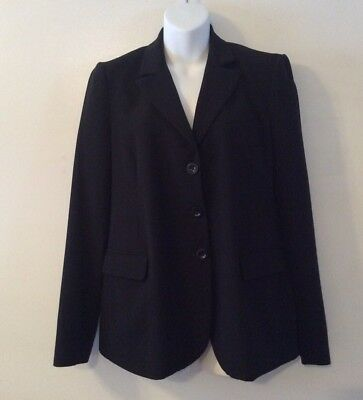 Mimi Maternity Black Lined Blazer Career Jacket Size Medium