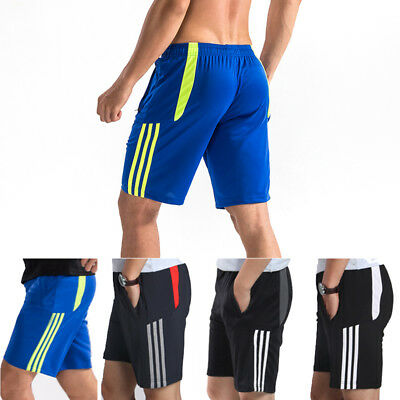 Men/'s Workout Gym Running Shorts with Zipper Pockets Breathable Plus size Baggy