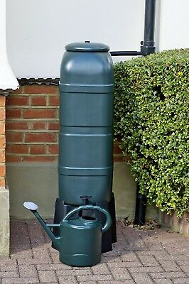 Water Butt Barrel Set with Tap Stand Lockable Lid and Filler Kit Slimline 100L