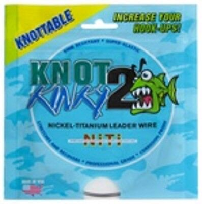 Knot 2 Kinky Nickel-Titanium Leader Wire 35lb(15.91kg) 30ft(9.2m) Single Strand