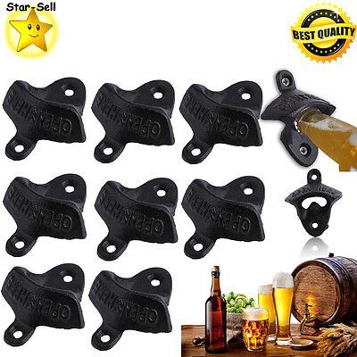 10X New Rustic Bottle Opener Iron Wall Mount Beer Coke Soda Bottle Openers Ek