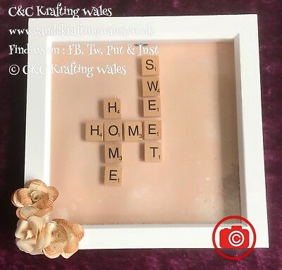 Personalised Box Picture Frame Scrabble Name And Themegiftpresent