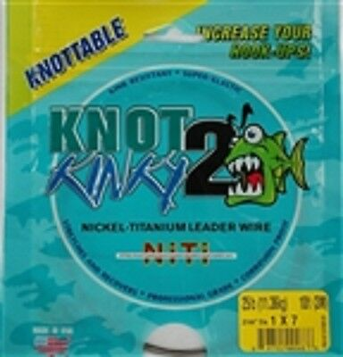 Knot 2 Kinky Nickel-Titanium Leader Wire, 7 Strand, 25lb(11.36kg) 10ft(3m)