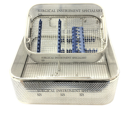Sterilisation Tray Mesh Tray Silicone & Screws Fitted Adjustable Instrument Tray