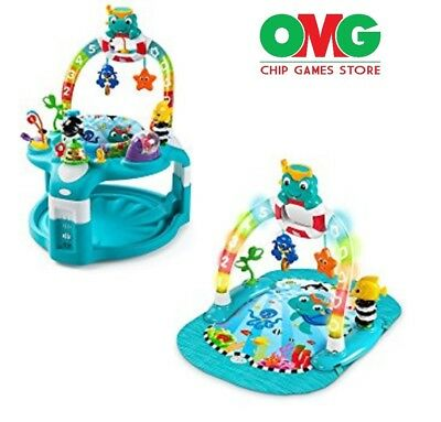 BaBy Toys - 2 In 1 Lights & Seas Activity Gym & Saucer - Free Shipping