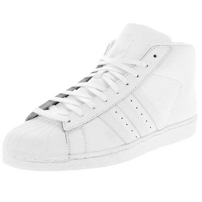 Mens Adidas Superstar Pro Model Trainers Leather Hi Top Shoes Size BNWT