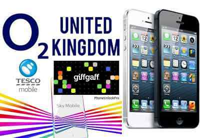 O2 Unlocking for iPhone (giffgaff, tesco mobile, sky) See description for model