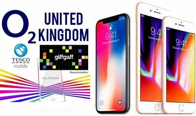 O2 Unlocking for iPhone 8, 8plus, X (giffgaff, tesco mobile, sky)
