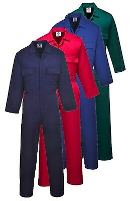 PORTWEST Euro Work Coverall Elastic Waist Pockets Lightweight Comfort S999