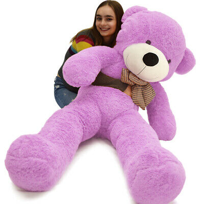 "Giant Teddy Bear Purple Huge Plush Stuffed Animal Toys 47"" Valentine Girls Gift"
