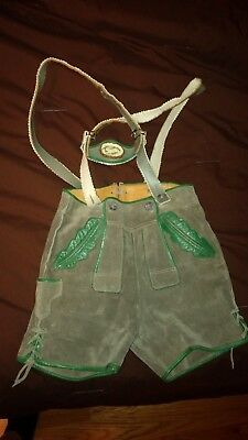 Authentic Child's German Lederhosen! Beautiful and in Great Condition!