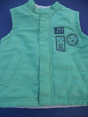 Boy's Size 1 Target green padded fleecy lined vest
