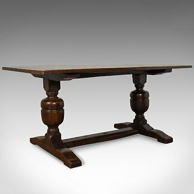 Victorian Refectory Table in 17th Century Taste, Antique, English, Oak, c.1880