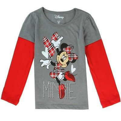 Girls Minnie Mouse Long Sleeve Top (4T)