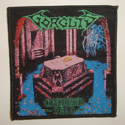 GORGUTS - CONSIDERED DEAD WOVEN PATCH Atheist Pestilence Death Cancer