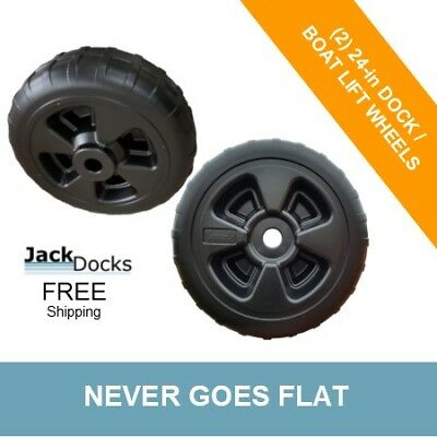 TWO Boat Dock Wheels | 24""
