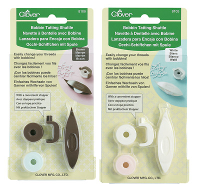 Clover Bobbin Tatting Shuttle - Two Colors Available!