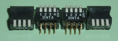 4 x 4 Way PCB Piano Switch DIL DIP Package, 4 separate single pole switches NOS
