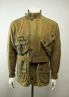 Rare Barbour A10 International Waxed Motorcycle Jacket Size C44 / 112CM