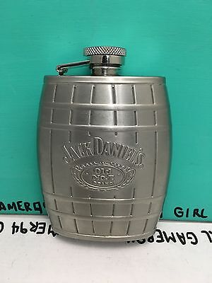 Jack Daniels Liquor Old No. 7 Brand Stainless Steel 4 oz 2009 Drinking Flask