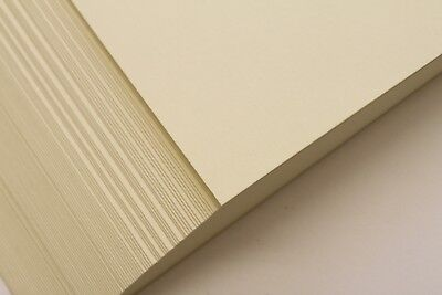A5, A4 OR A3 PREMIUM QUALITY CREAM 160gsm GOATSKIN PARCHMENT CARD - WATERMARKED.