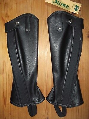 New Stowe English Gaiter Co. Black Synthetic Half Chaps, Children's Sizes / Kids