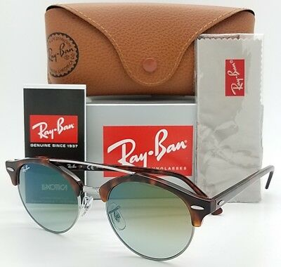 b7eb742ef0 NEW Rayban sunglasses RB4346 62519J 51mm Tortoise Gradient ClubRound  AUTHENTIC