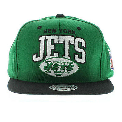 ... latest design 13708 3df9f Mitchell Ness NFL New York Jets Team Arch 2  Tone Retro Snapback ... a363384d2