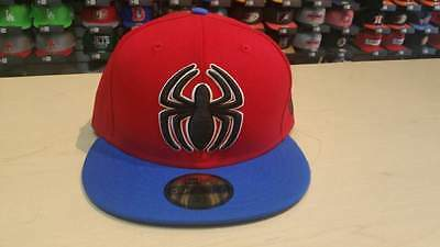 reputable site 44773 efc3c New Era Marvel Spider-man Homecoming Red Blue 2 Tone 59FIFTY Cap Hat NewEra
