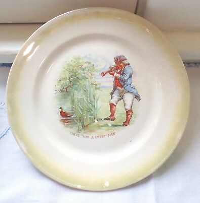 Unsual & Rare Antique W.s. George Lusterd Mother Goose Nursery Rhyme Child Plate