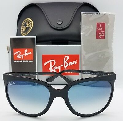 a7c6c97181 NEW RAYBAN CATS 1000 Sunglasses RB4126 601 3F 57mm Black Blue Gradient Cat  4126
