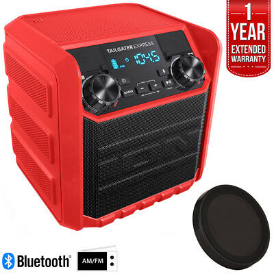 Ion Audio Tailgater Express 20W Bluetooth Speaker System (Red) Deluxe Bundle