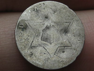 1856 Three 3 Cent Silver Piece- Scarce Type Coin