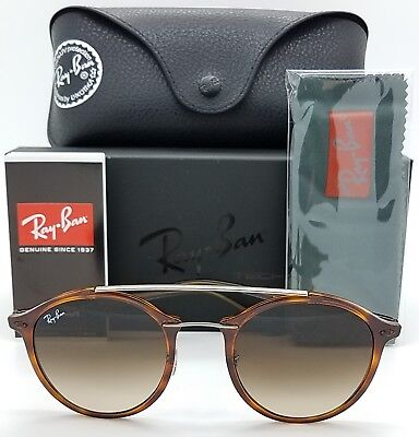 06f1580959b NEW Rayban sunglasses RB4266 620113 49 Tortoise Brown Grad Round 4266  AUTHENTIC