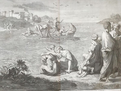 PICART: Large Double Page Bible Print Marriage in Cana - 1728#