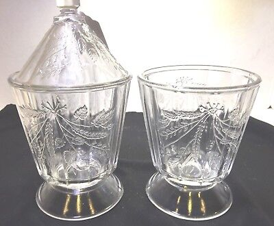 "ANTIQUE EAPG Early American Pattern Glass ""WHEAT & BARLEY"" lot of 2 sugars"