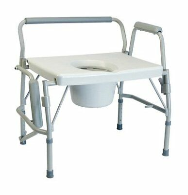 Lumex 6438A Imperial Collection 3-in-1 Steel Drop Arm Commode, 600 lb. Weight