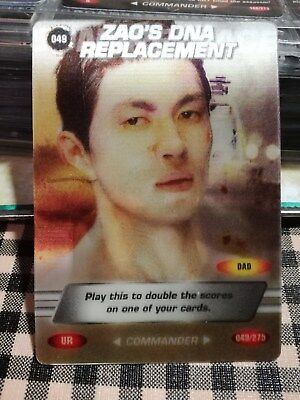 """JAMES BOND 007 SPY CARDS 2008 Holograph Ultra rare card """"Zao's DNA Replacement"""""""